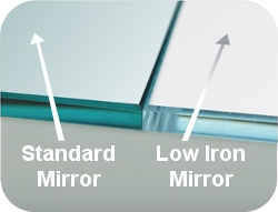 low iron glass and mirror