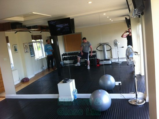 Wall Mirror wall mirror images : Mirrors and Glass - Images Gallery - Gym Mirrors with ...