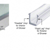 Dry glaze channels for glass shower screens