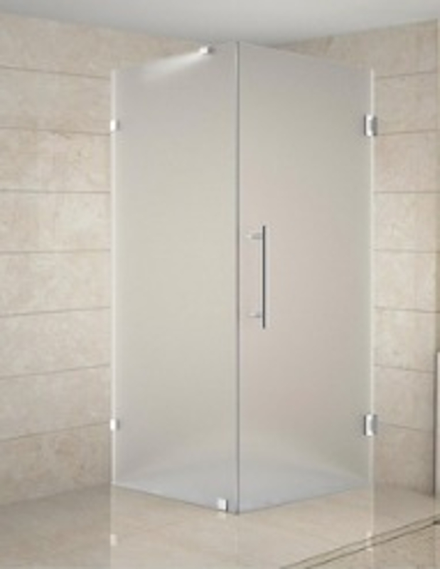Frosted Shower Enclosure