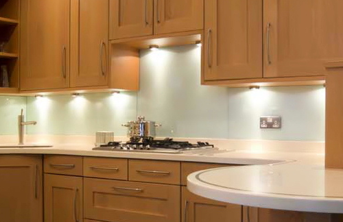 Example Glass SplashBack (Cream)