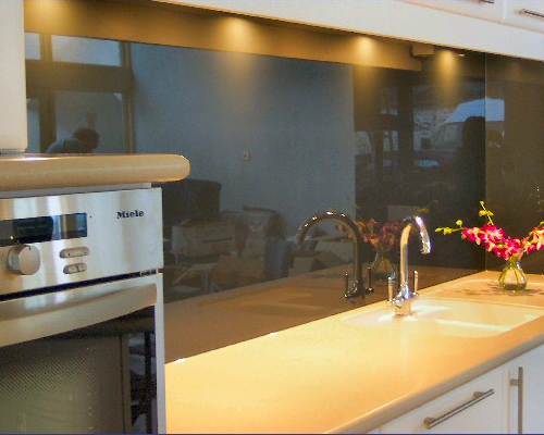 Example Glass SplashBack (Black)