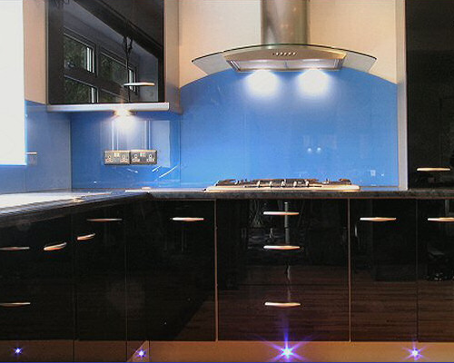 Example  Glass SplashBacks (Blue)