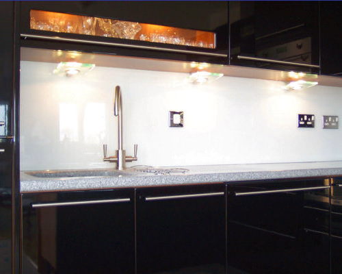 Example Glass SplashBack (White)