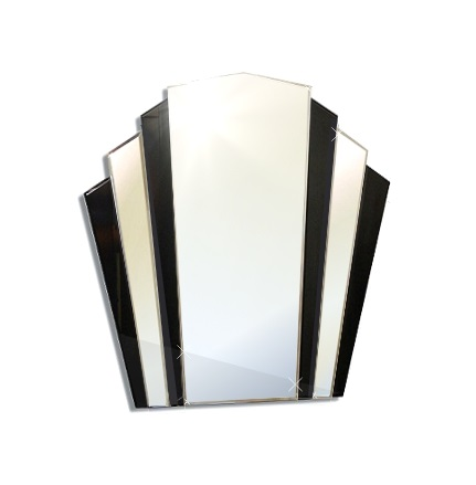 Mirrors and glass mirrors small art deco fan shape for Miroir art deco