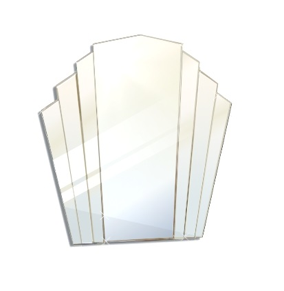 Mirrors And Glass Mirrors Small Art Deco Fan Shape