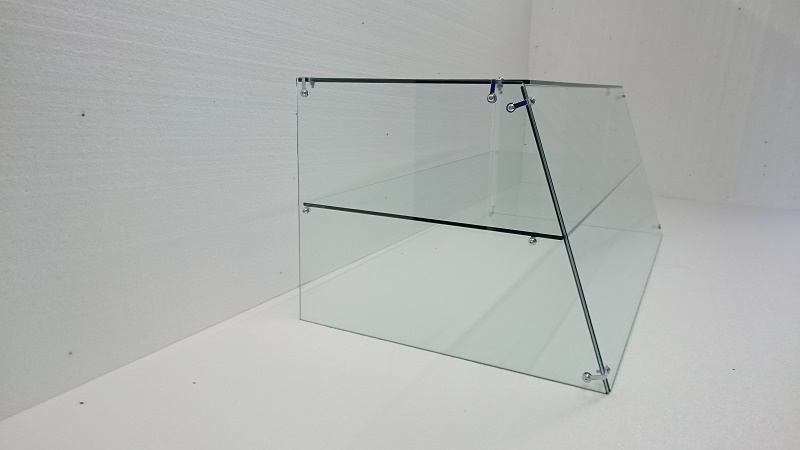 Glass Display Cabinet Side View
