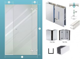 3-Piece Glass Shower Enclosure