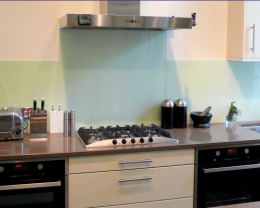 Example Opaque Glass SplashBacks (Sandblasted)