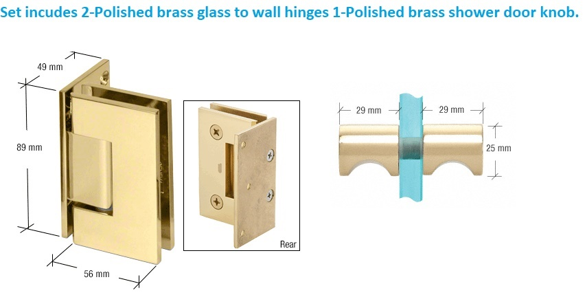 High Quality Shower Door Hinges & Knob Handle